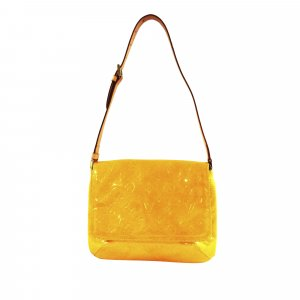 Louis Vuitton Bolsa de hombro marrón Imitación de cuero