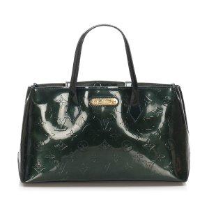 Louis Vuitton Torebka podręczna ciemnozielony Imitacja skóra