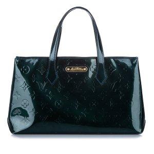 Louis Vuitton Handbag dark green imitation leather