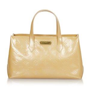 Louis Vuitton Handbag beige imitation leather