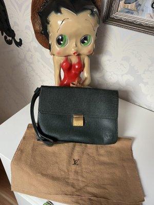 Louis Vuitton Vintage Ledertasche Handtasche Henkel Tasche dunkelgrün