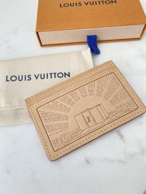 Louis Vuitton VIP Card Holder Vachetta Leder Kartenetui wie neu Original Portemonnaie beige braun