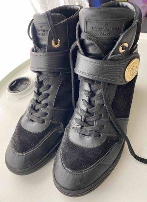 Louis Vuitton Wedge Sneakers Epi Leder schwarz