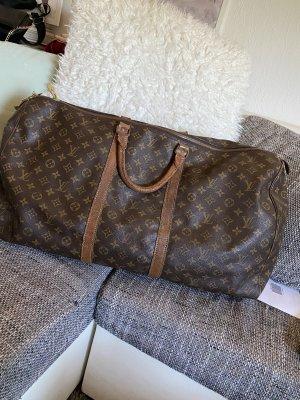 Louis Vuitton Sac weekender marron clair-brun