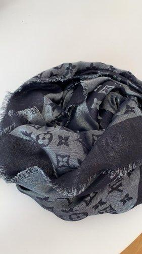 Louis Vuitton Écharpe en soie gris ardoise