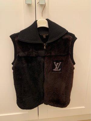 Louis Vuitton Weste mit Nutria Pelzbesatz