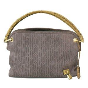 Louis Vuitton Handtas grijs Suede