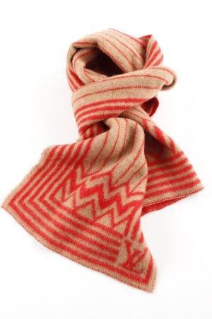 Louis Vuitton Bufanda de lana rojo-nude estampado gráfico look casual