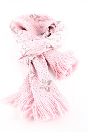 Louis Vuitton Woolen Scarf pink-light grey printed lettering casual look