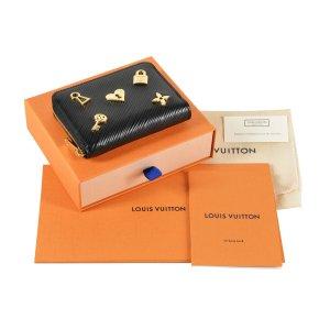 Louis Vuitton Zippy Coin Geldbörse Epi Leder Love Lock Schwarz @mylovelyboutique.com