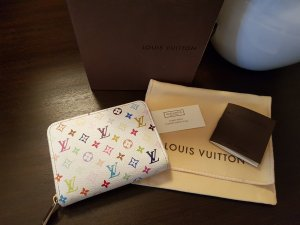 Louis Vuitton Zippy Coin Purse multicolor white