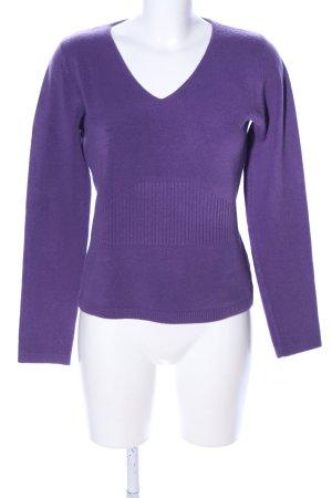 Louise FD V-Ausschnitt-Pullover lila Casual-Look
