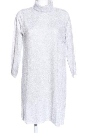 Louise Orop Robe pull gris clair moucheté style décontracté