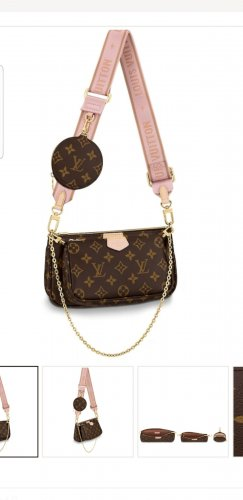 louisvuitton Multi pochette Rose NEU