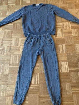 American Vintage Tenue pour la maison bleu acier coton