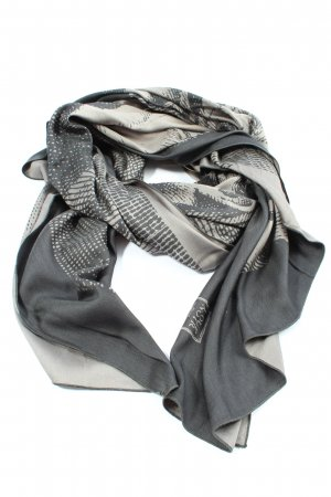 Loup Noir Silk Scarf light grey-natural white allover print casual look
