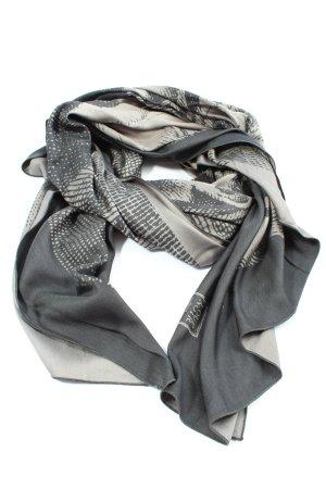 Loup Noir Écharpe en soie gris clair-blanc cassé imprimé allover