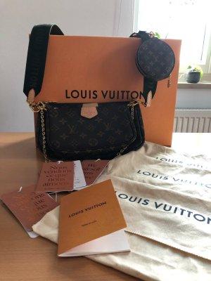 Louis Vuitton Sac bandoulière brun-gris vert lin