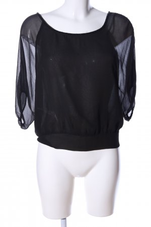love 21 Transparenz-Bluse schwarz Elegant