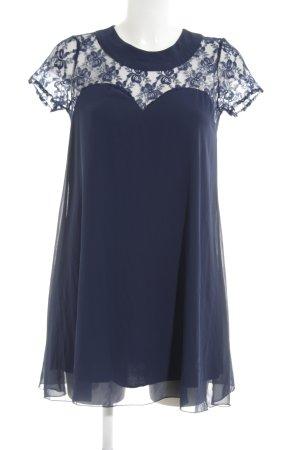 Love A-Linien Kleid dunkelblau Spitzenbesatz