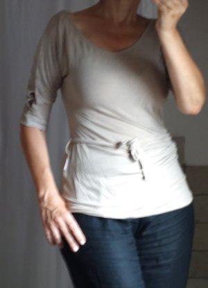 Long Shirt beige viscose