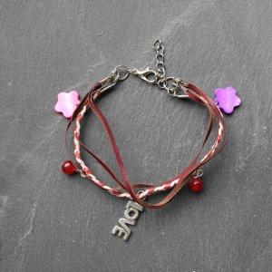 Bracelet multicolored leather