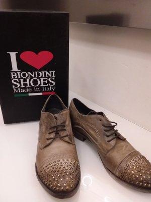 Love Biondini Schuhe West Taupe Größe 38  Die in einem hochwertigen Antik - Leder,