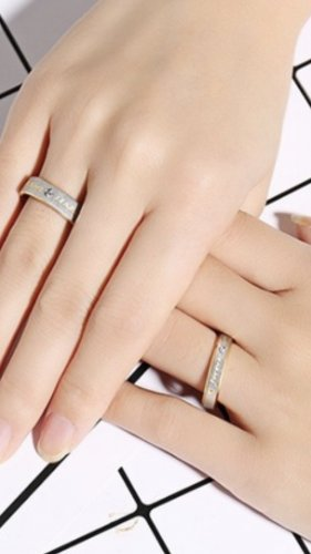 Love Forever Partner Ringe gr 18/57 21/61 neu