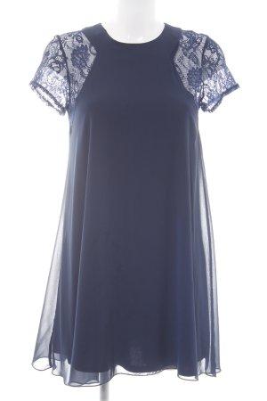 Love Kurzarmkleid blau Blumenmuster Elegant