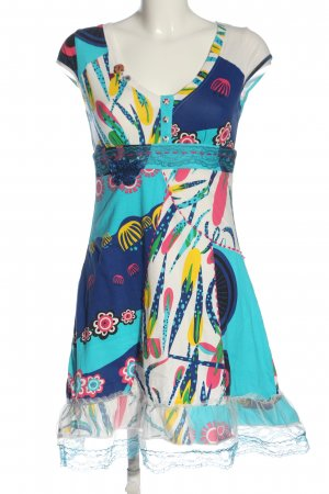 Love & Love Vestido Hippie estampado con diseño abstracto look casual