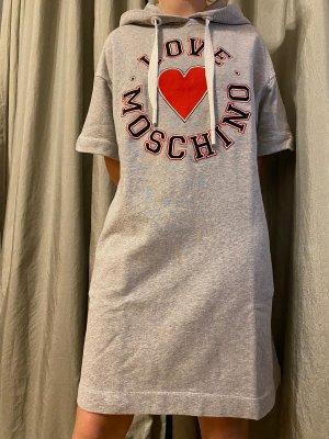 Love Moschino Robe à capuche gris clair
