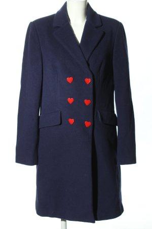 Love Moschino bodenlanger Mantel blau Business-Look