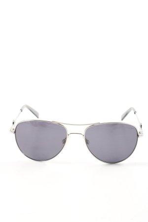 Love Moschino Aviator Glasses silver-colored-black street-fashion look