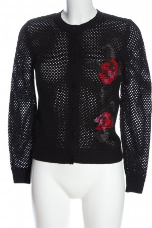 Love Moschino Cardigan black weave pattern casual look