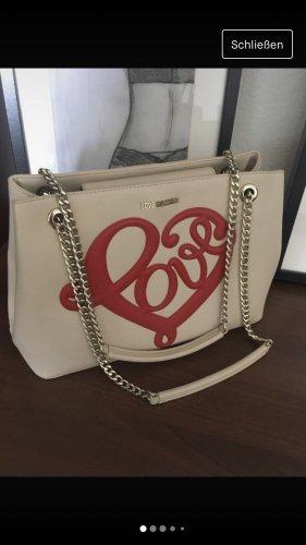 Love MOSCHINO Chain Tasche in Beige love in Rot
