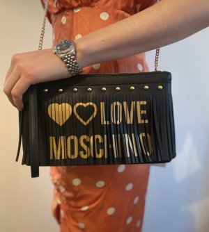 Love Moschino Clutch black-sand brown mixture fibre