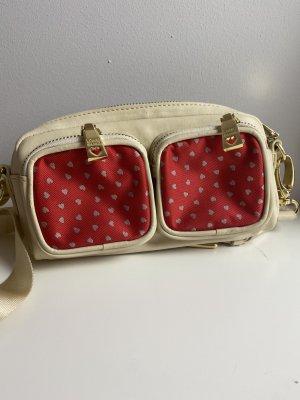 Love Moschino Crossbody bag natural white-brick red mixture fibre