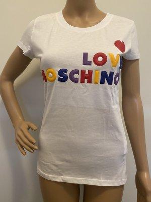 LOVE MOSCHINO DAMEN T- SHIRT IN WEIß  GRÖßE: 38