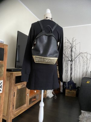 Love Moschino Sac à dos noir-doré cuir