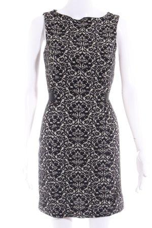 Love Moschino Etuikleid schwarz-weiß florales Muster klassischer Stil