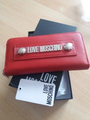 Love Moschino Portemonnee rood-zilver Gemengd weefsel