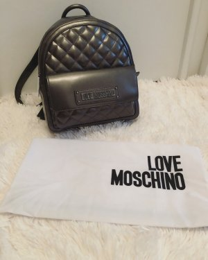 Love Moschino gesteppter Rucksack in Metallic neu mit Etikett