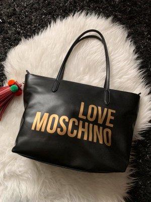 Love Moschino Borsa shopper nero-rosso mattone Pelle