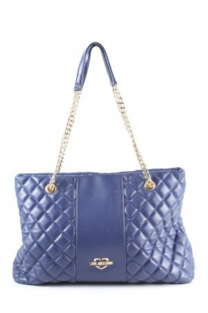 Love Moschino Henkeltasche blau Steppmuster Casual-Look