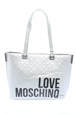Love Moschino Carry Bag light grey-black themed print casual look