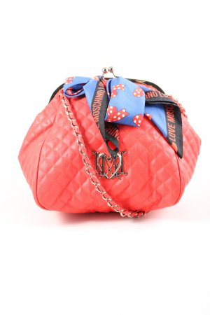 Love Moschino Carry Bag red quilting pattern casual look