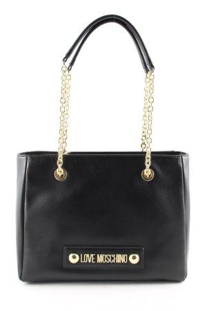 Love Moschino Sac Baril noir-doré style d'affaires
