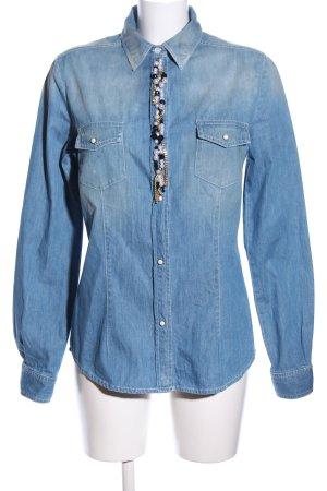 Love Moschino Jeanshemd blau Casual-Look