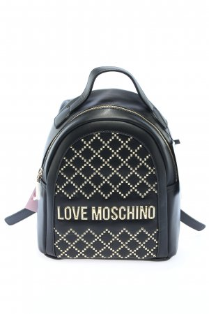 Love Moschino Kindergarden Backpack black-silver-colored graphic pattern
