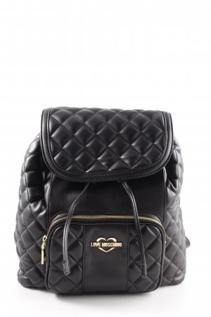 """Love Moschino Mini sac à dos """"Quilted Nappa Backpack Nero"""" noir"""